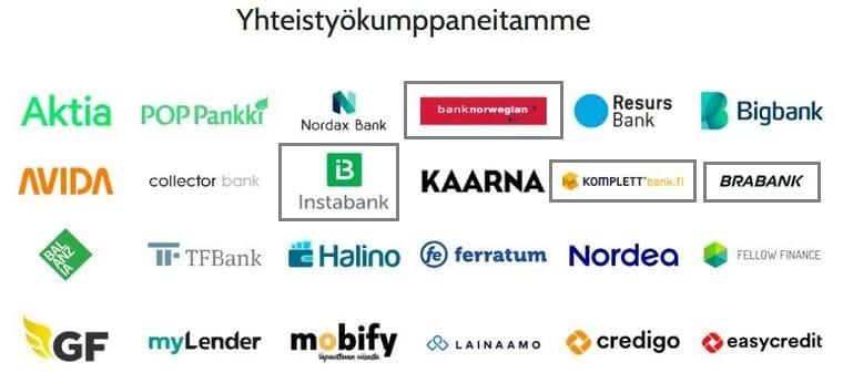Norjalaiset pankit Omalainan kilpailutuksessa