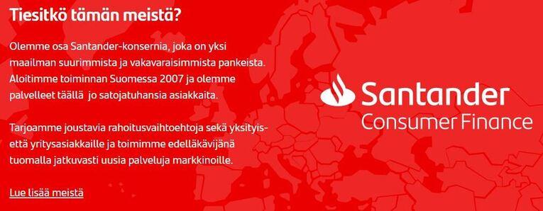 Santander taustatietoa