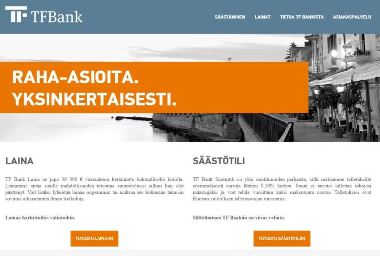 TF Bank kokemuksia