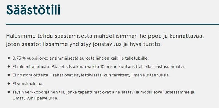 bank norwegianin säästötili
