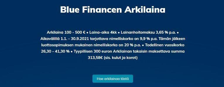 blue finance arkilaina