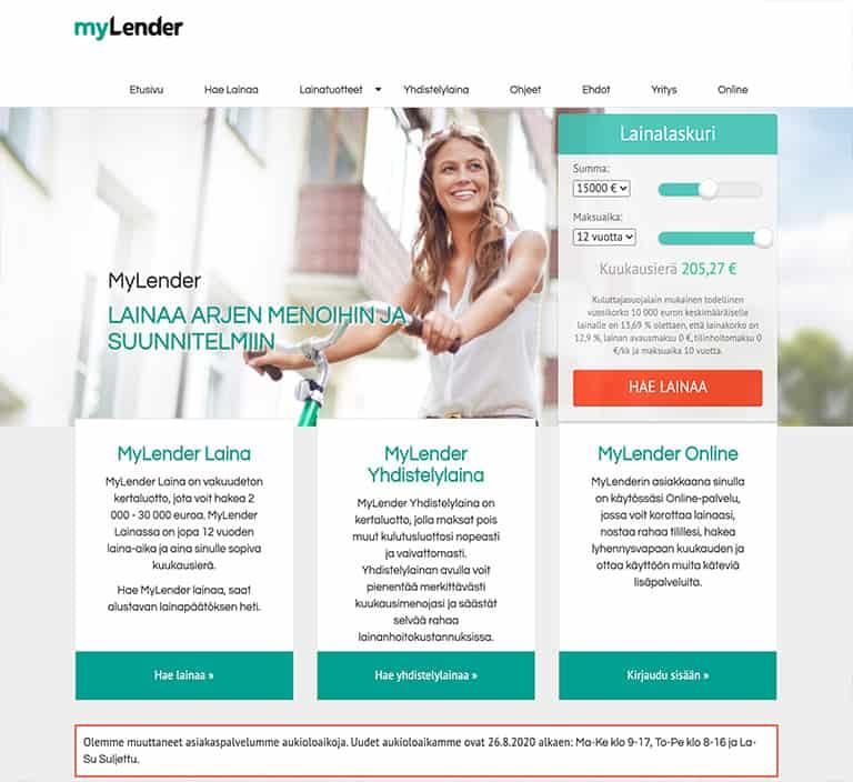 MyLender lainapalvelu