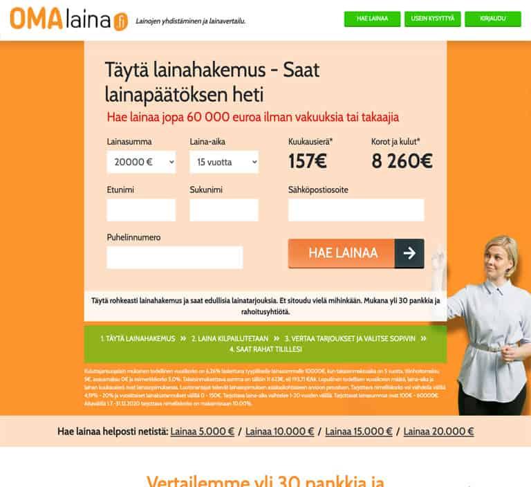 Omalaina.fi lainapalvelu