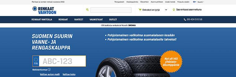 Renkaatvaihtoon.fi verkkokauppa