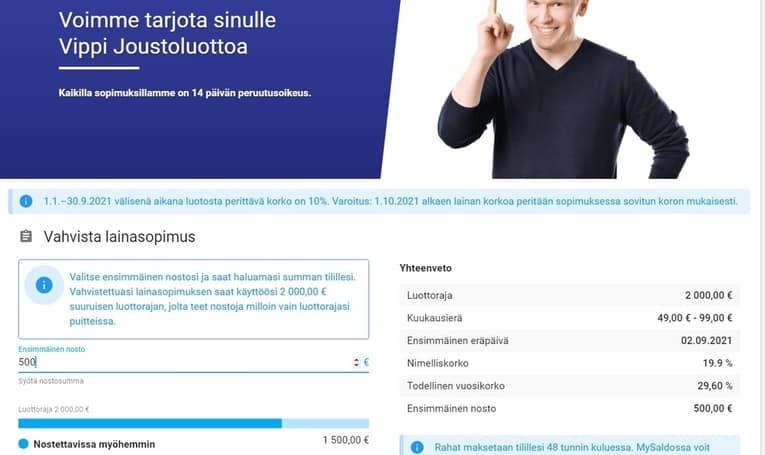 vippi.fi omia kokemuksia lainapäätös